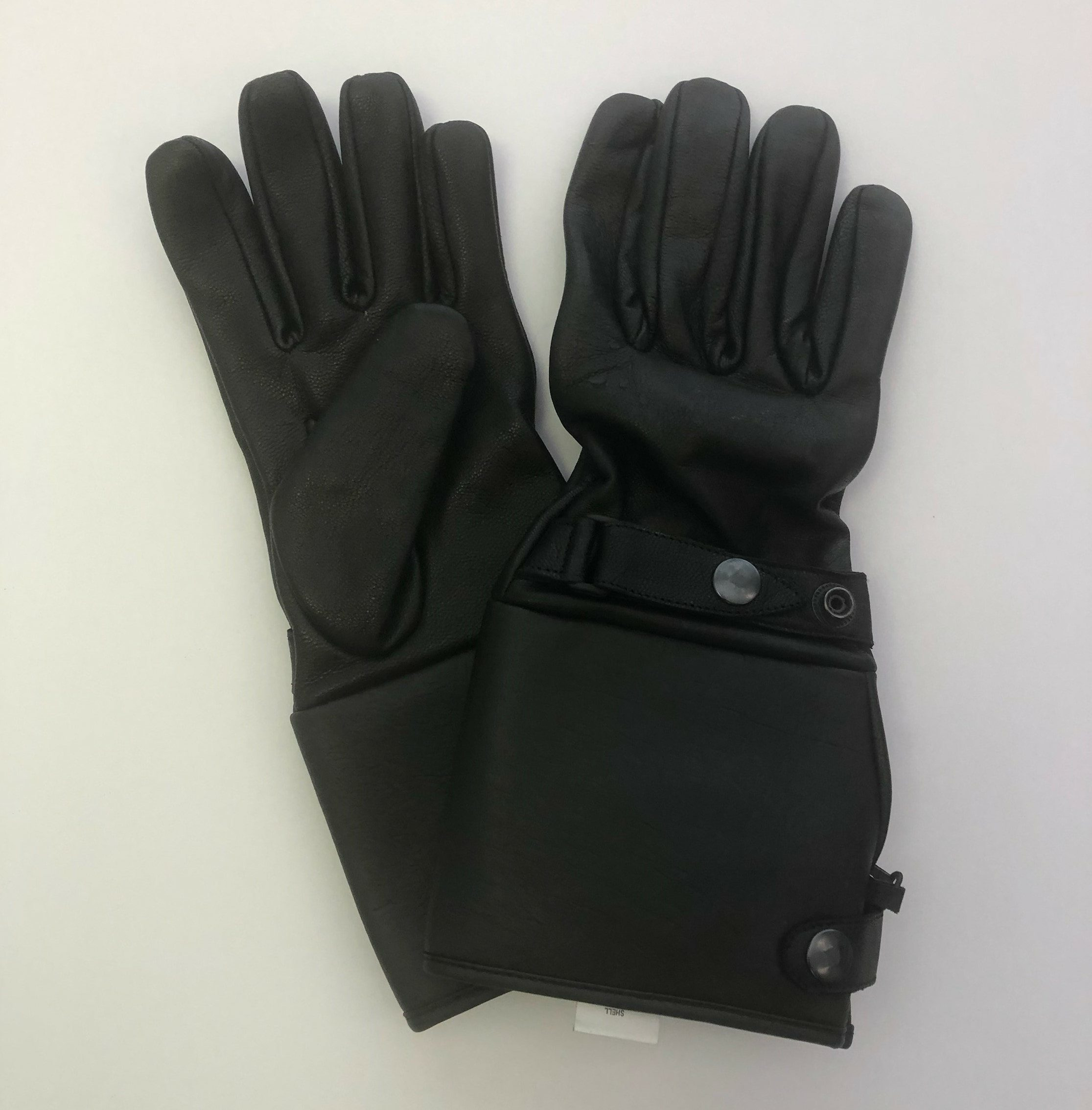 Leather Gauntlet Motorcycle Gloves