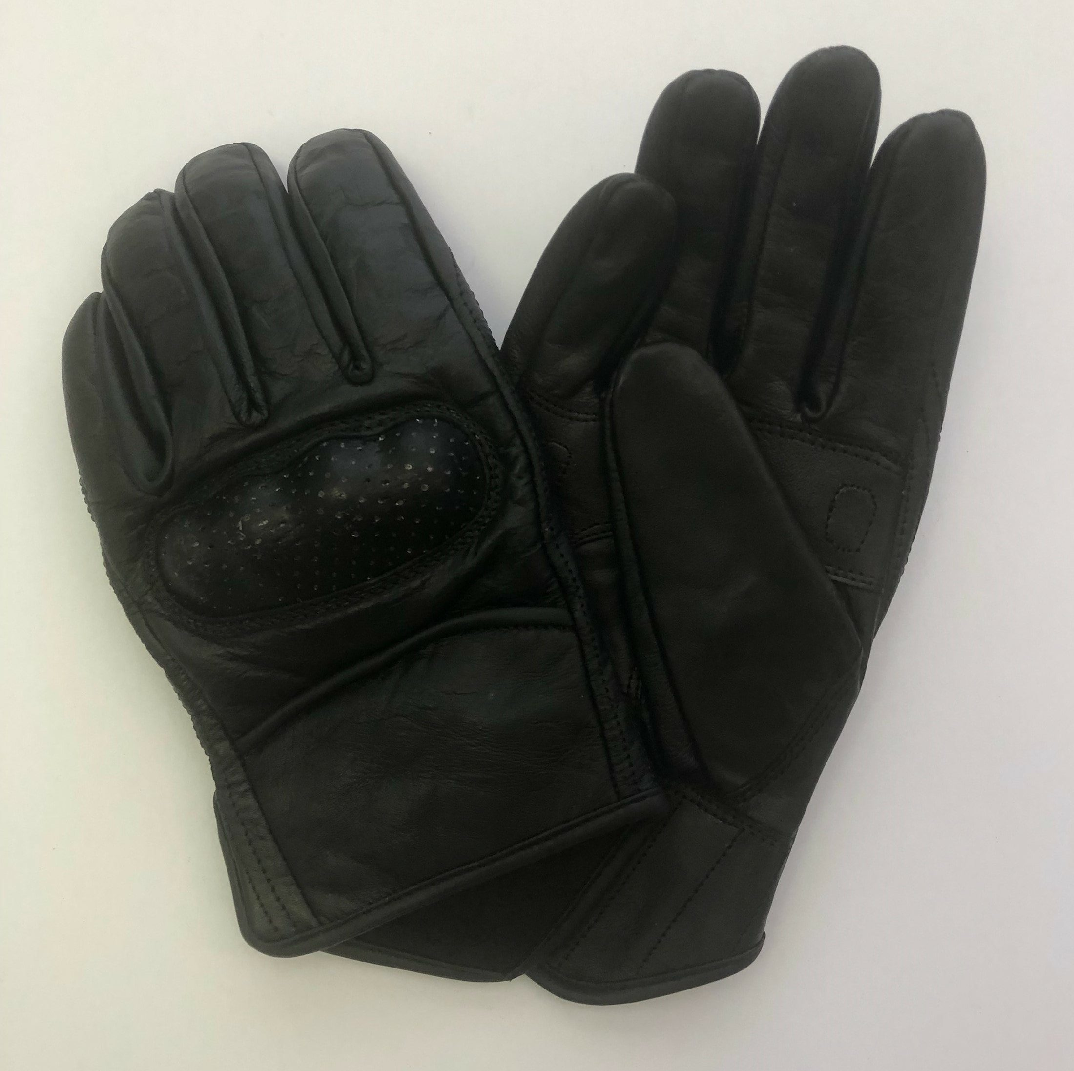 Leather Motorcycle Riding Gloves