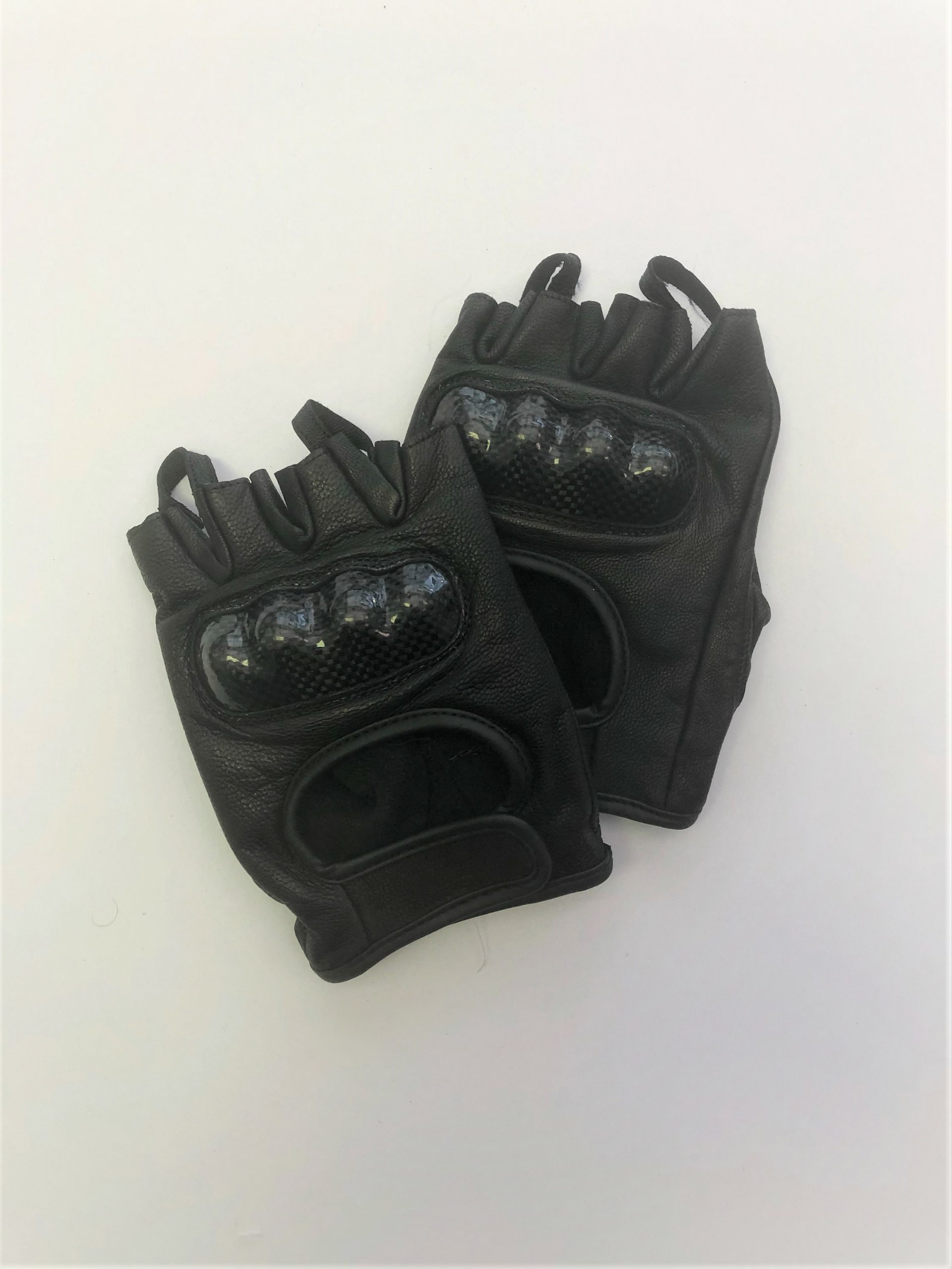 Leather Fingerless Motorcycle Gloves
