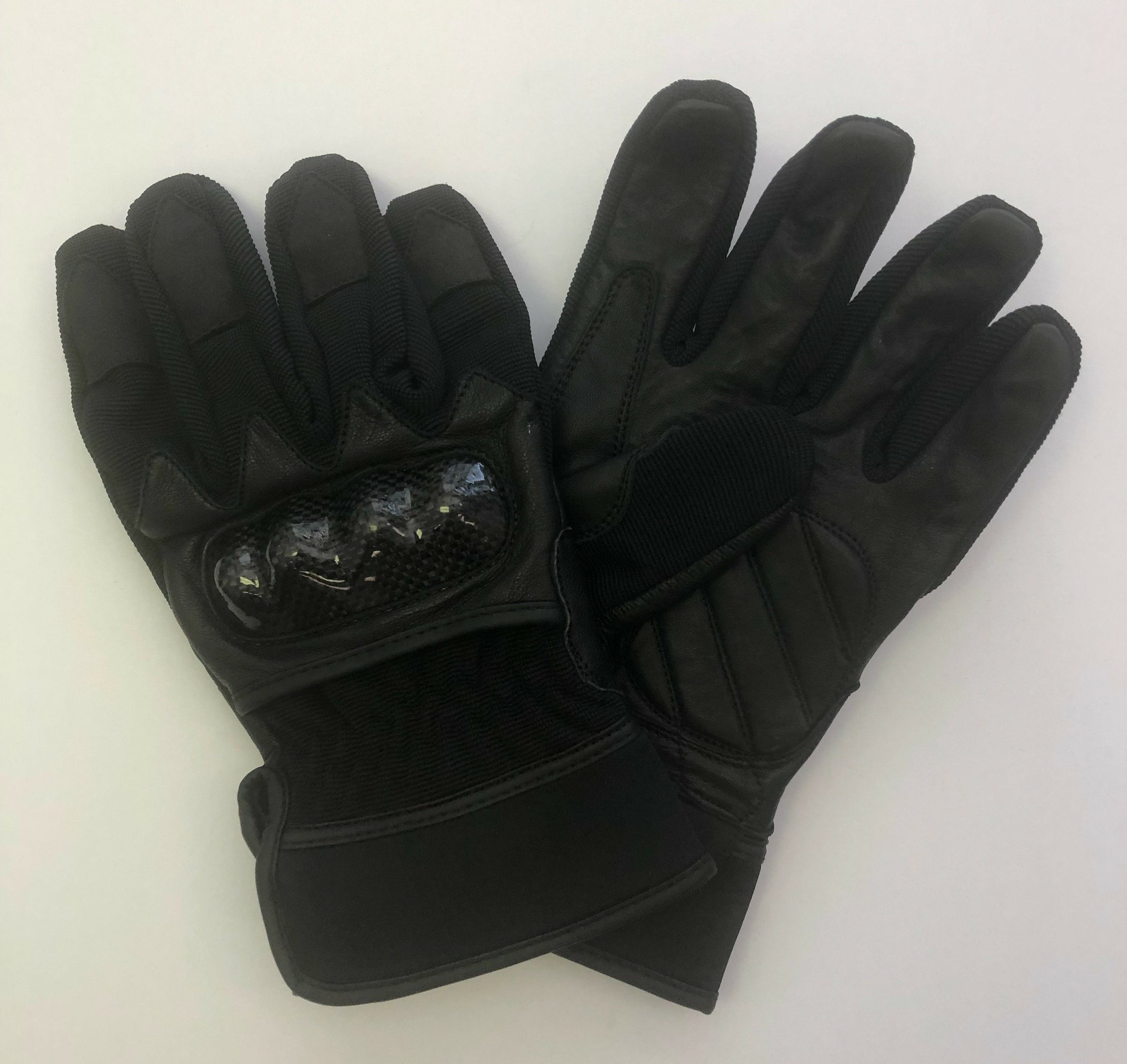 Leather Textured Motorcycle Gloves