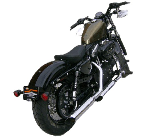 Turn signal relocation kit for Sportster Iron, Nightster, 48, and 72